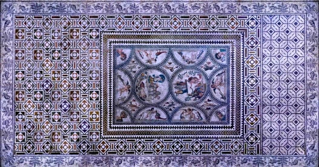 Resultado de imagen de Mosaico de los Amores, Cástulo